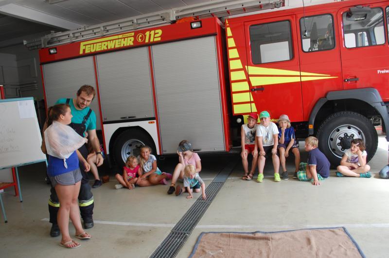 Ferienprogramm erste Hilfe - FF Baar Schwaben